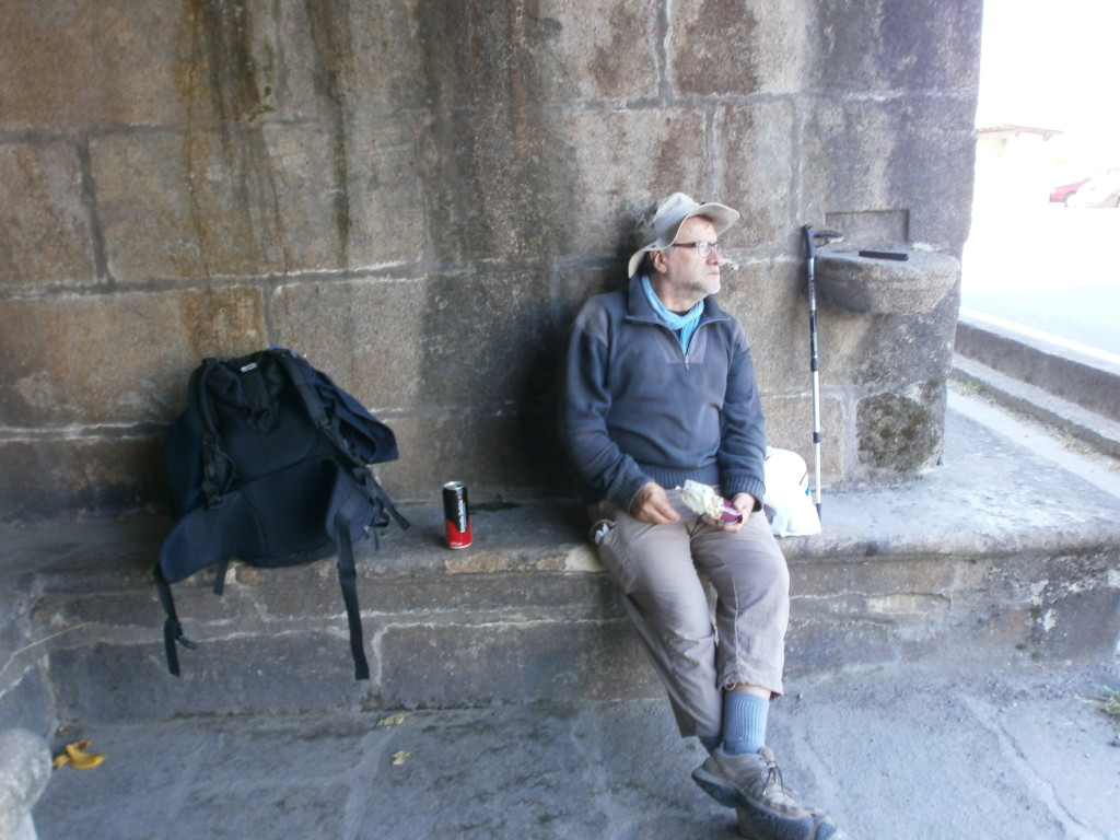 Fellow camino walker chilling out.