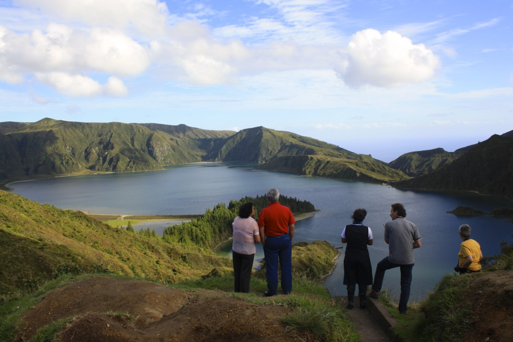 On the Azores, working as a tour leader.