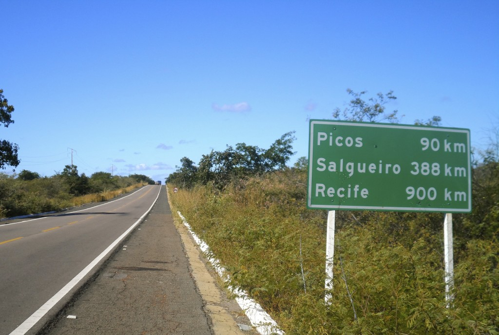 Cycling in Northeast Brazil.