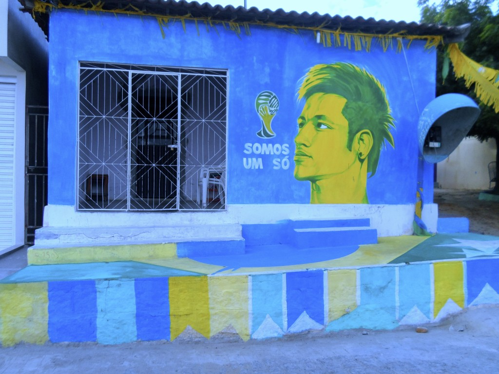 Brazilian village house painted for the world cup.