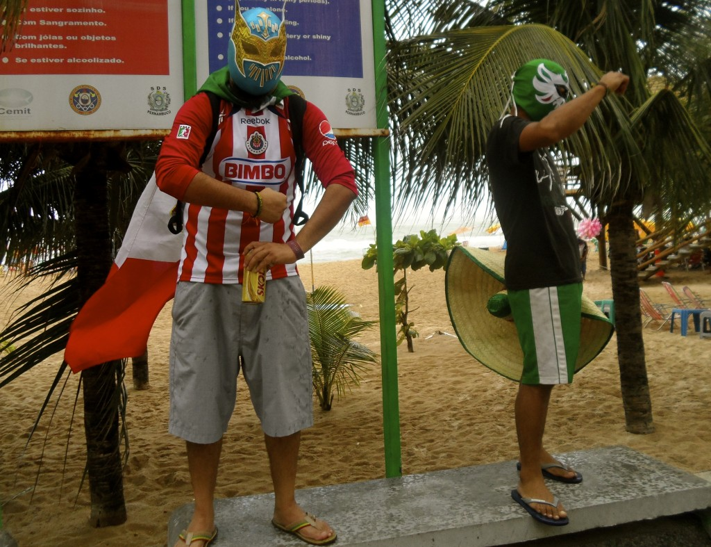 Mexican football fans in Recife.