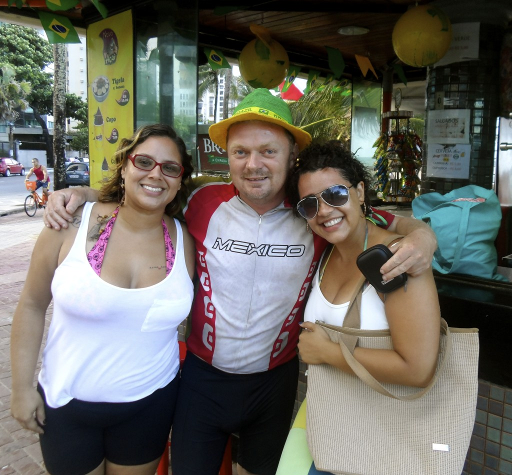 Hanging out with locals in Boa Viagem.