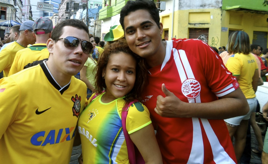 Brazilian football fans in Recife.