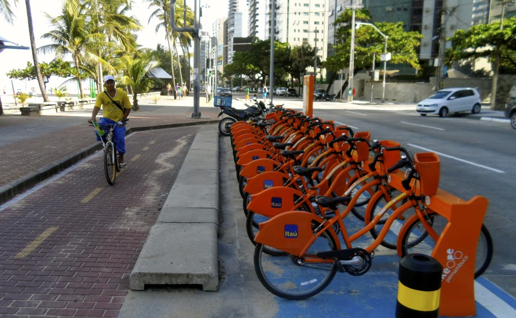 City bikes in Recife.