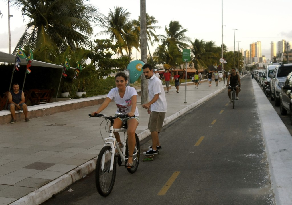 City cycling in Joao Pessoa.