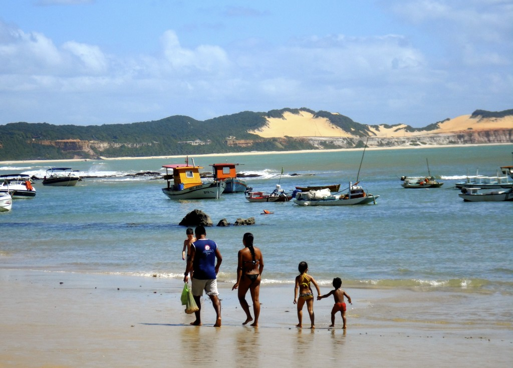 All social classes go to the beach in Brazil.