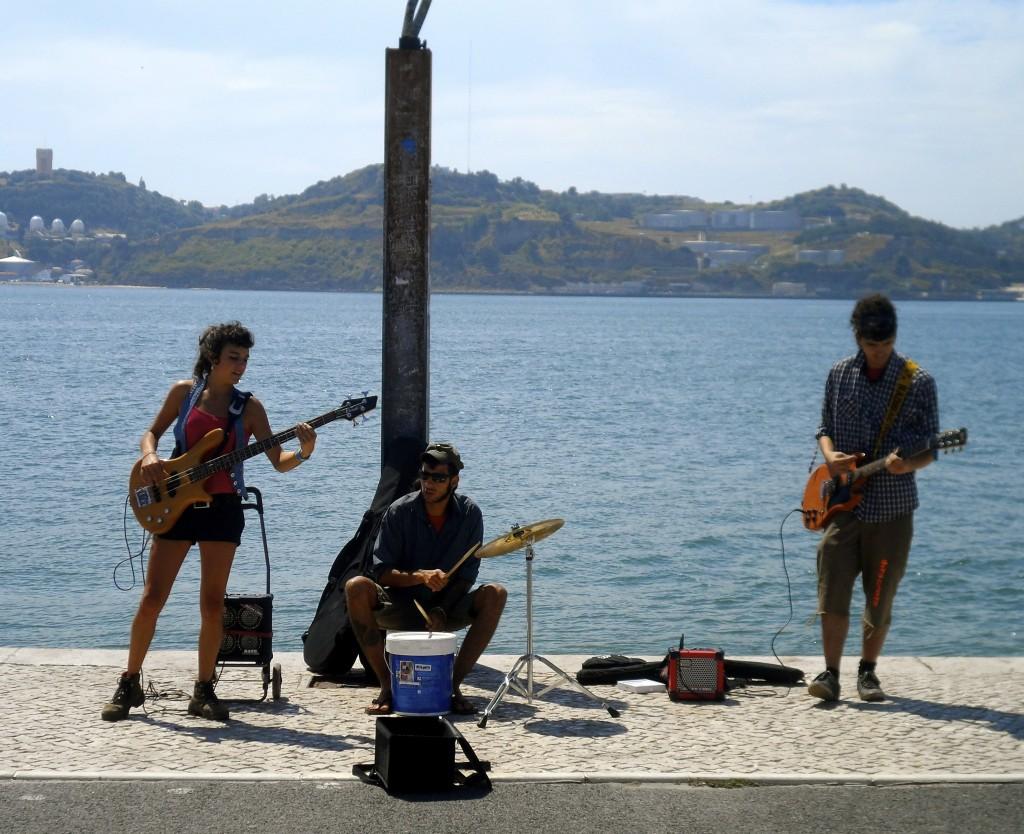 Buskers in Lisbon.