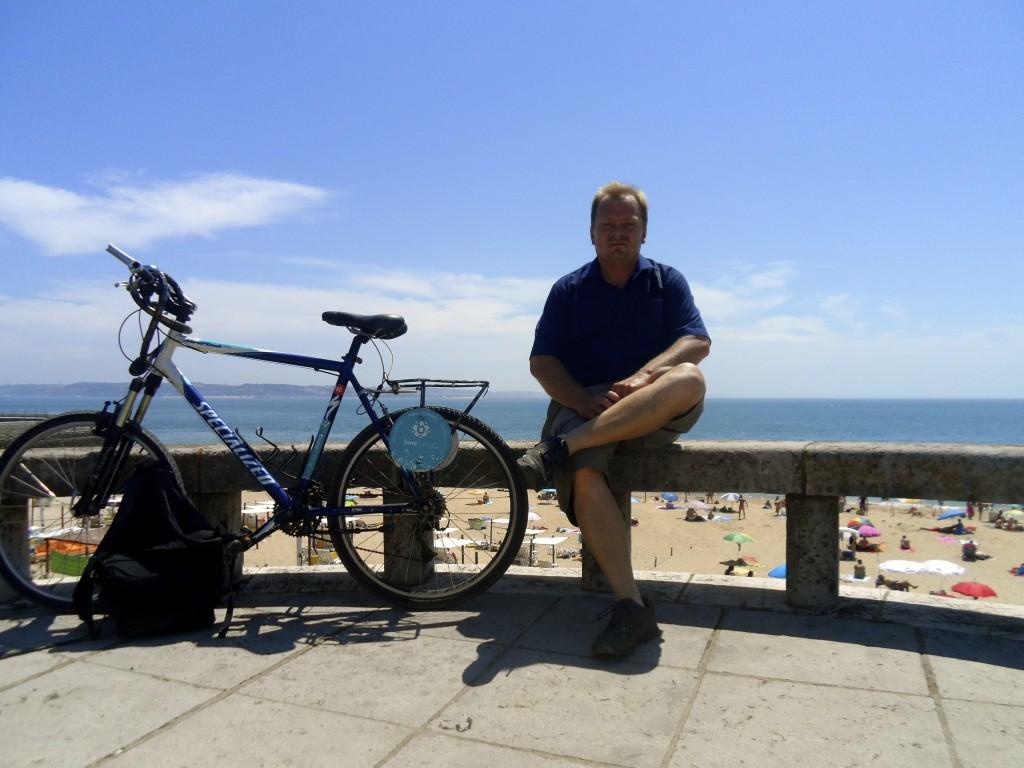 Cycling Lisbon.