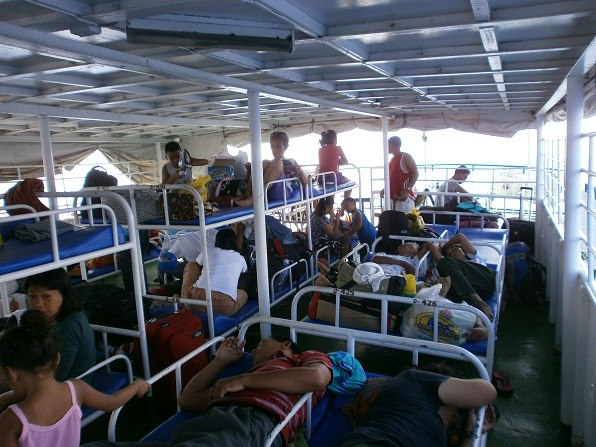 Overnight ferry in the Philippines.