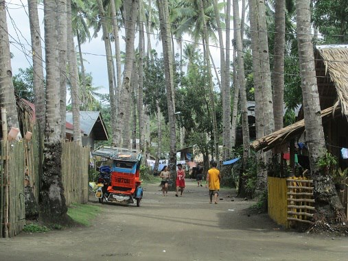 Rural road in the Philippines.