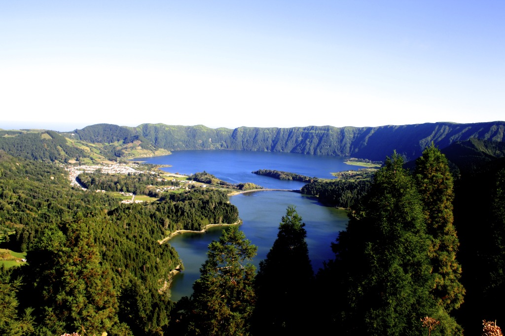 Sete Cidades on the Azores.