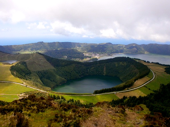 Crater lake on the azores.