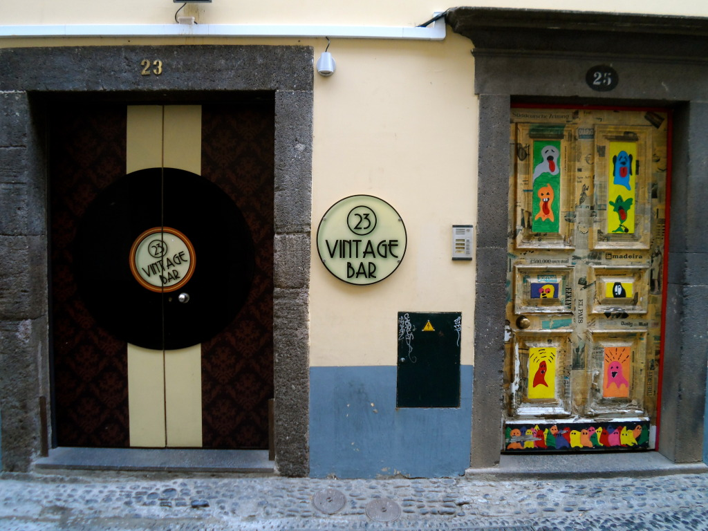 Vintage bar in Funchal.