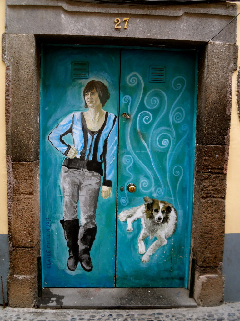Painted door in Funchal.