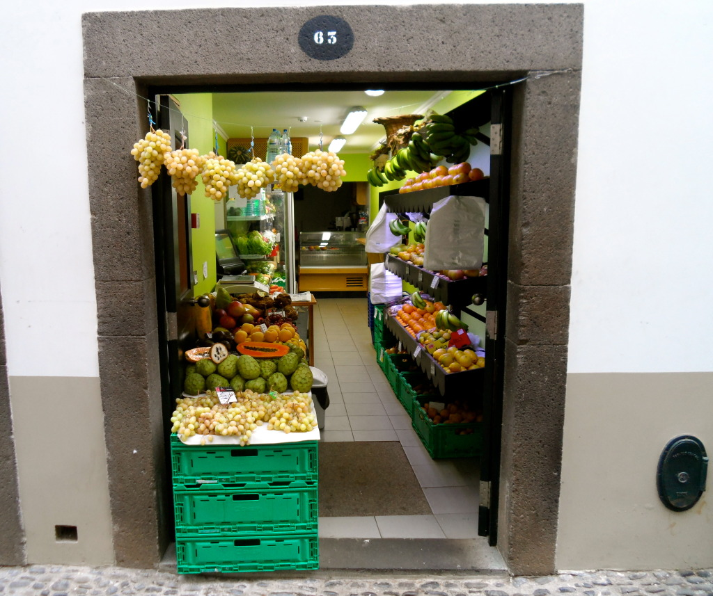 Grocery store in Funchal.
