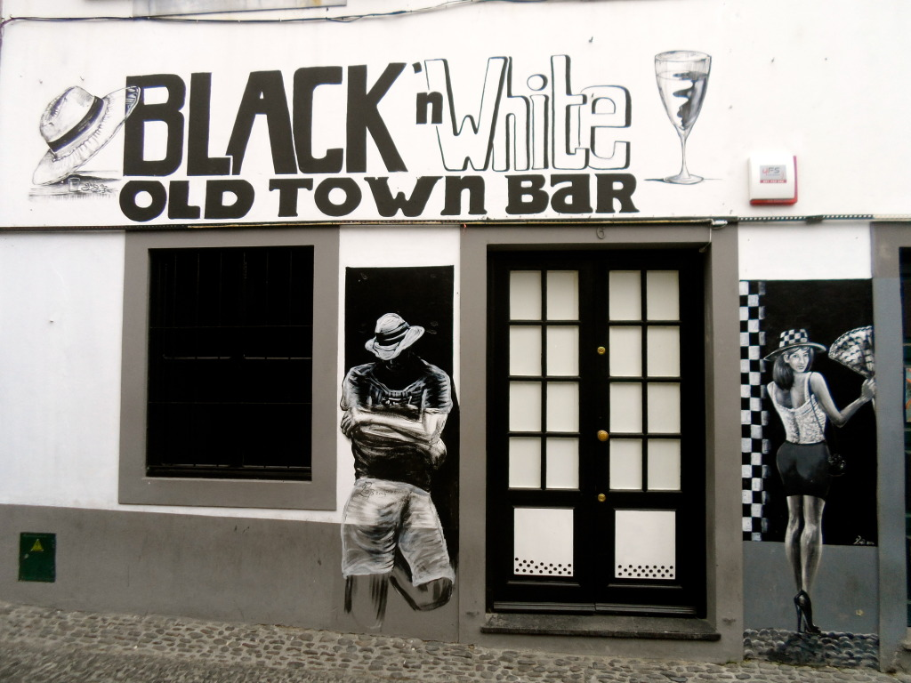 Bar in the old part of Funchal.
