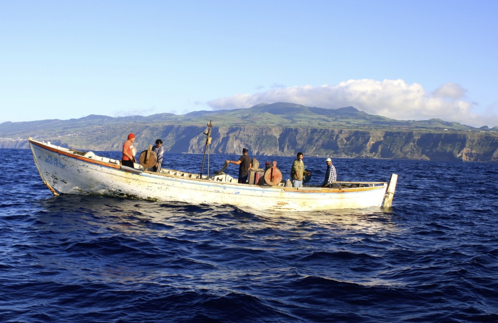 Fishermen on the Azores.