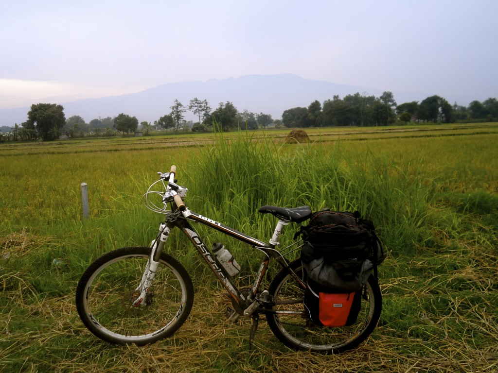 My bicycle in Indonesia.