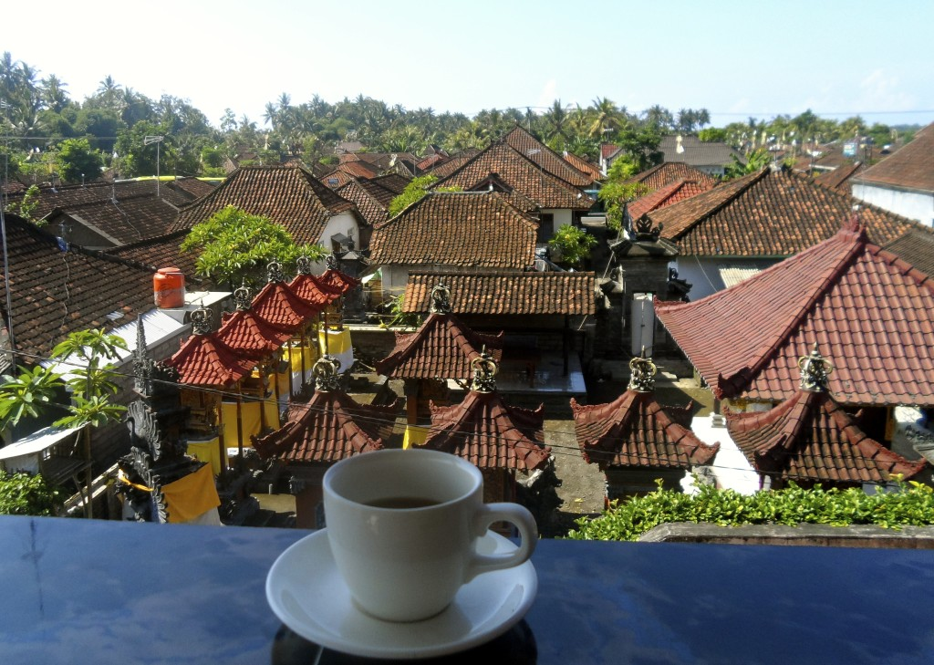 Coffee with a view in Bali.