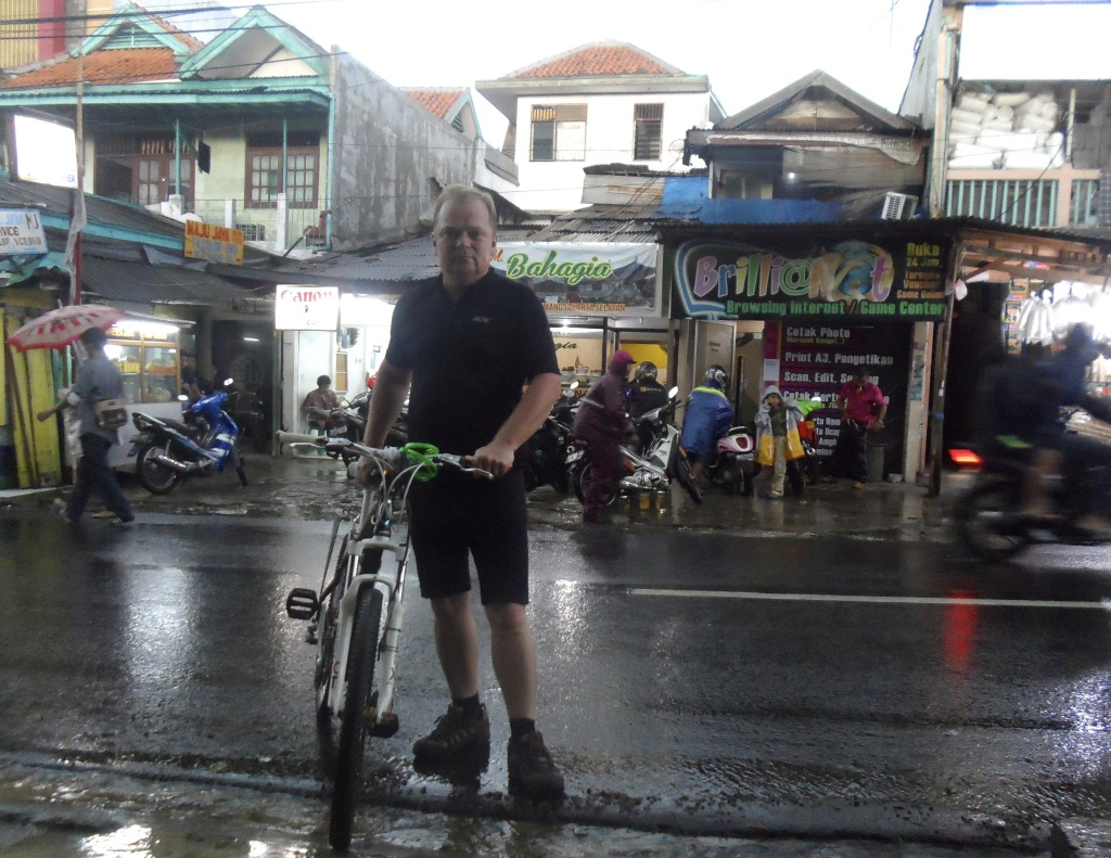 Me and my bike in Jakarta.