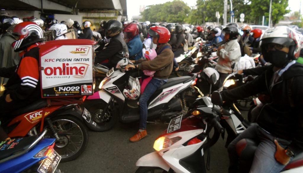 Jakarta traffic.