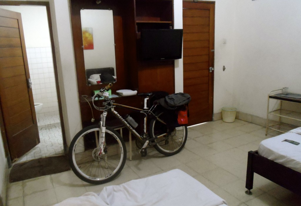 My bicycle in an indonesian hotel room.
