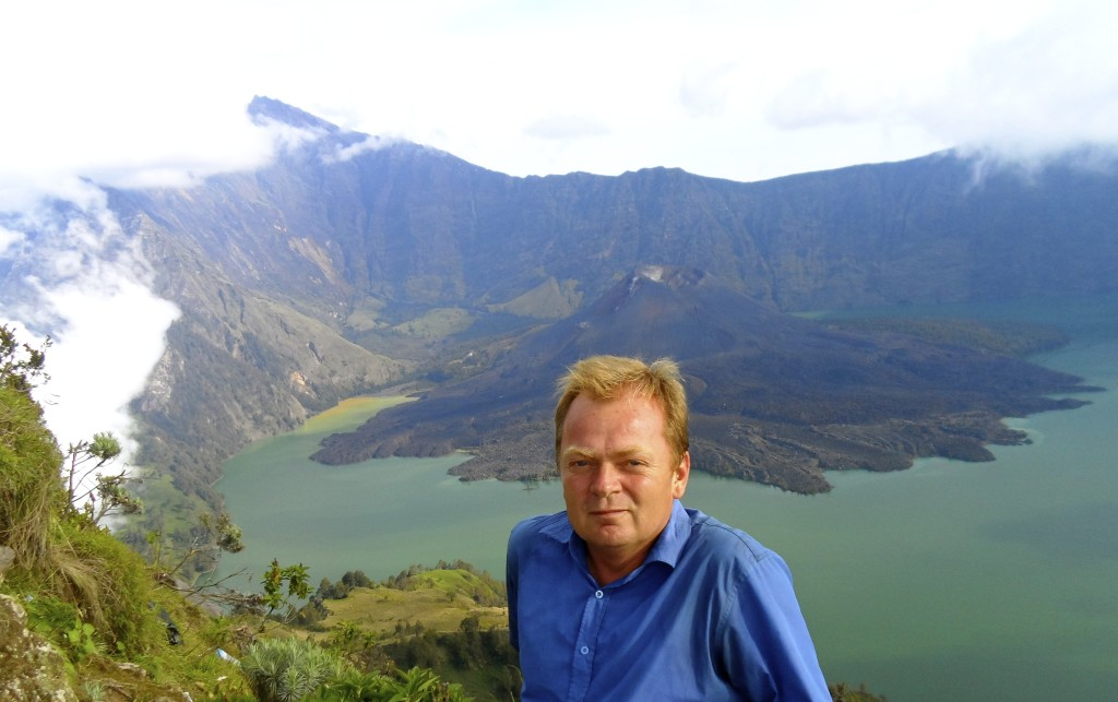 Me, at the rim of the Rinjani volcano.