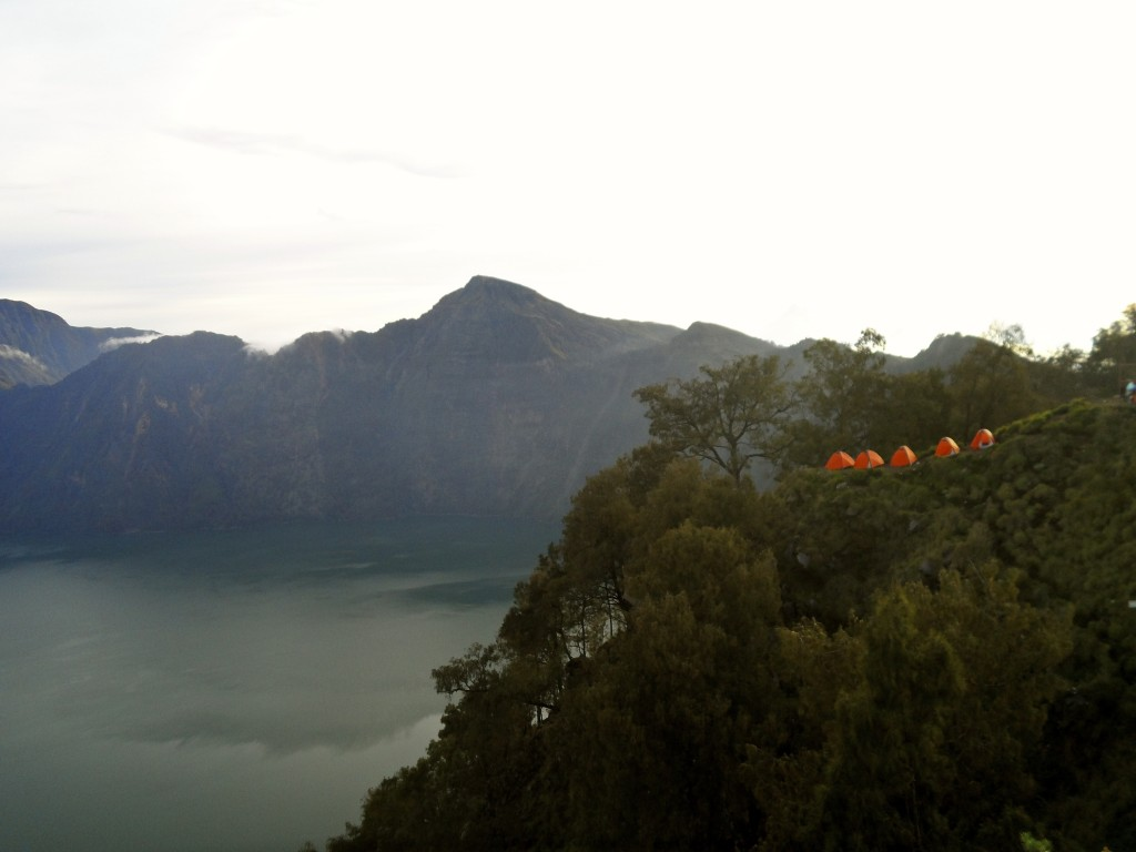 Camping on the Rinjani volcano.