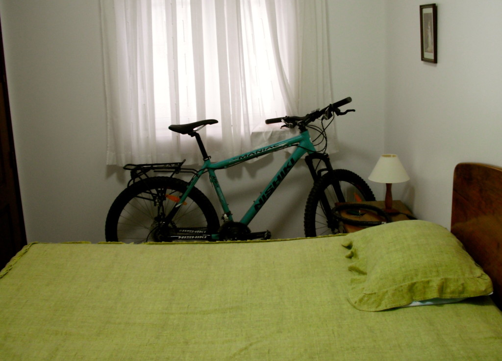 My bicycle in a hotel room.