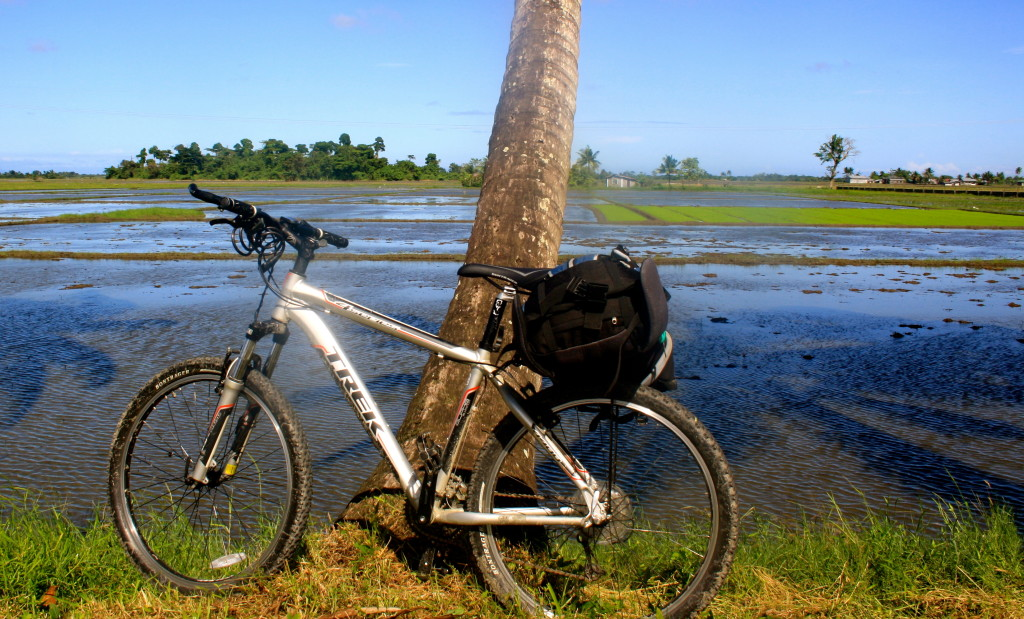 Bicycle travel in the Philippines.