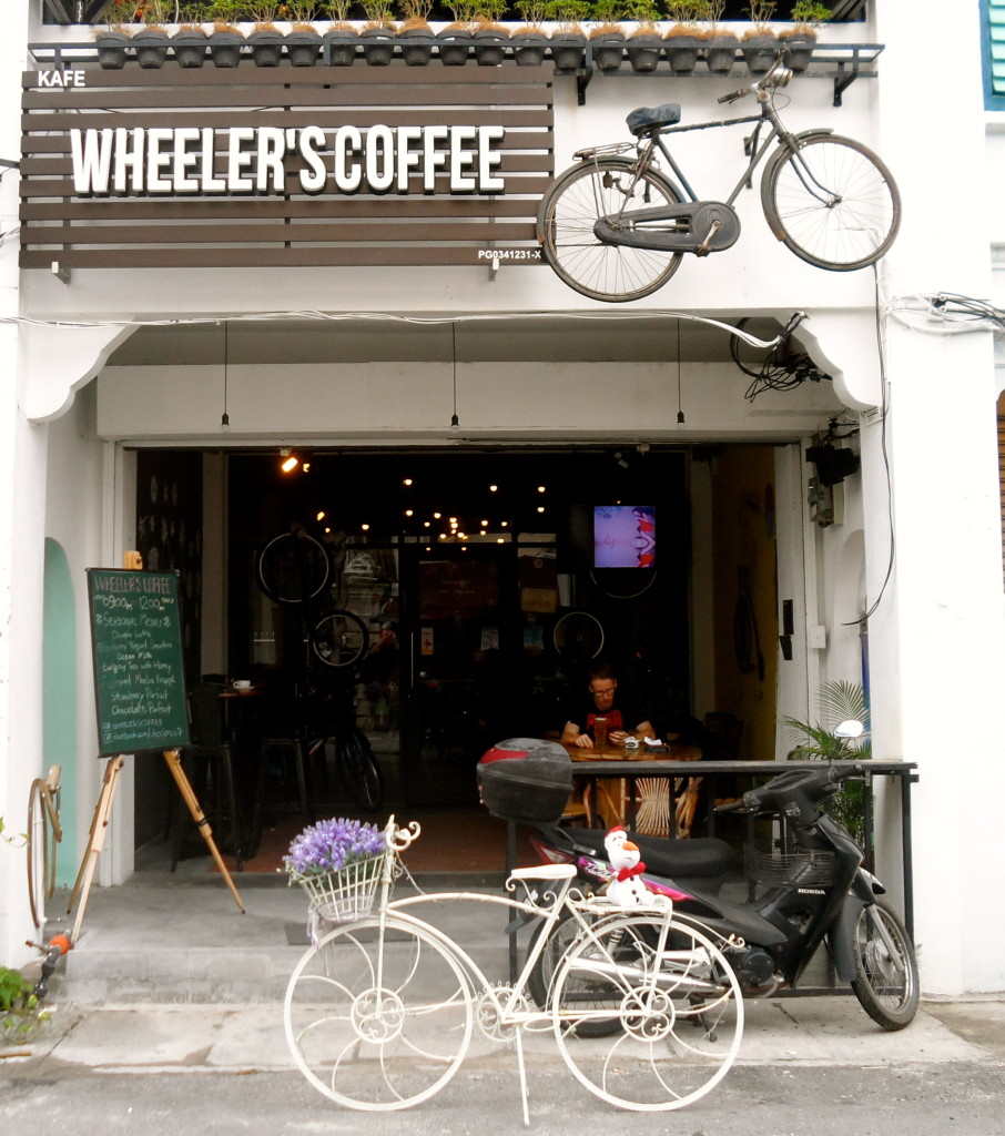 Bicycle cafe in Malaysia