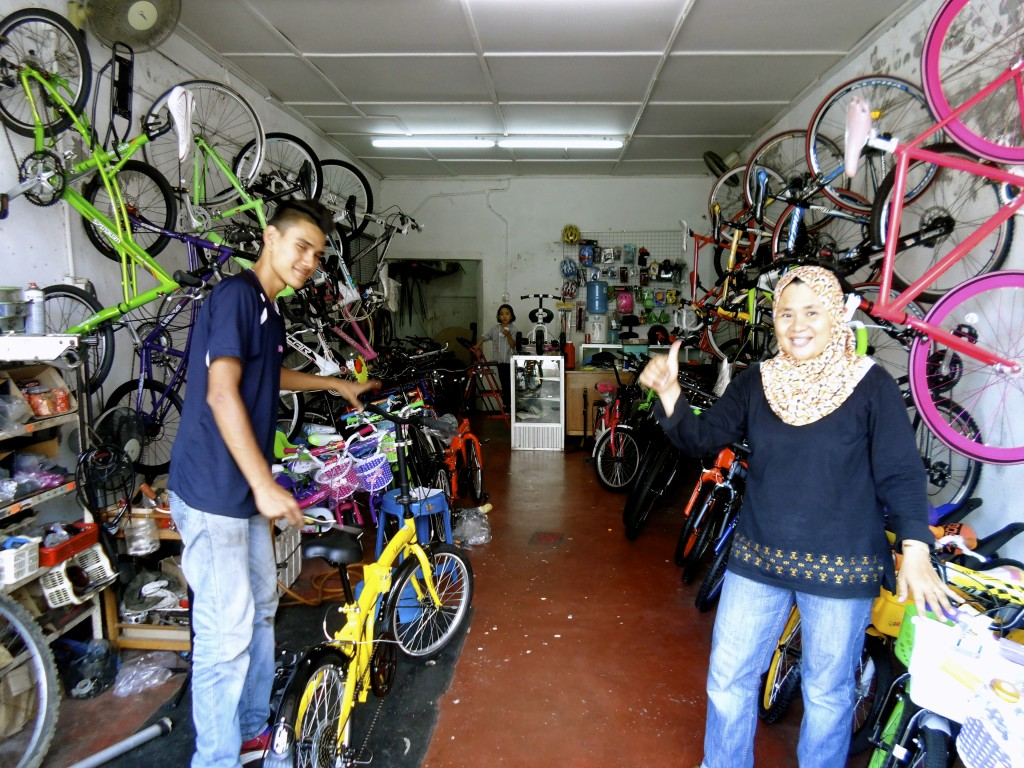My local bike shop in George Town, Penang.