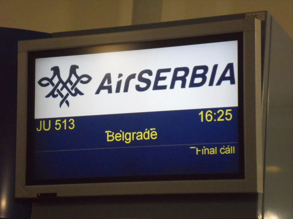Ready to board Air Serbia