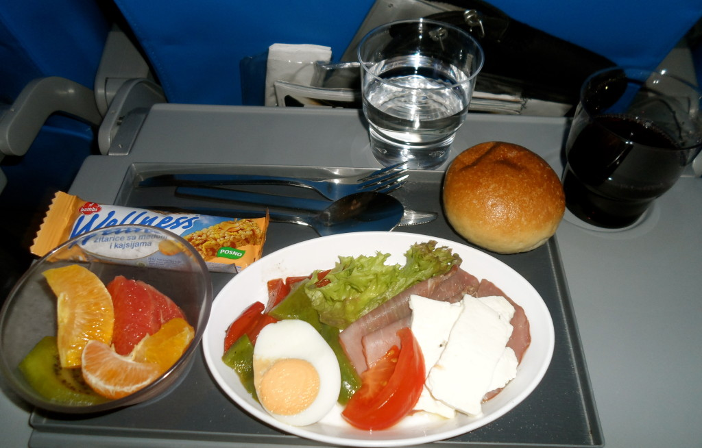 Breakfast on Air Serbia.