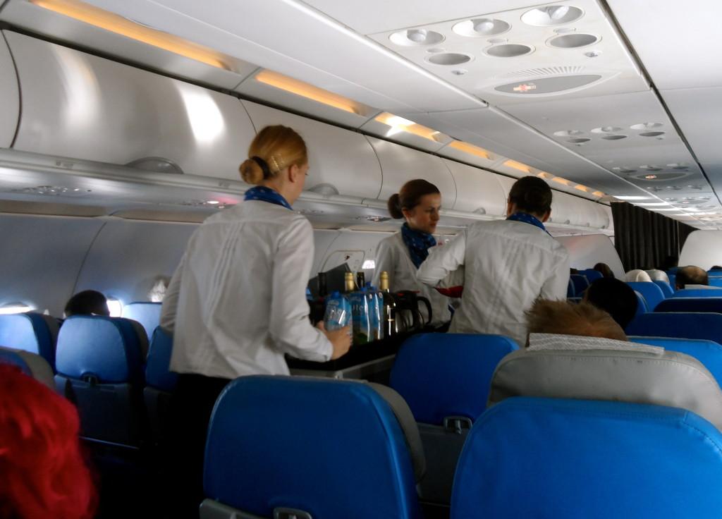 Onboard Air Serbia.