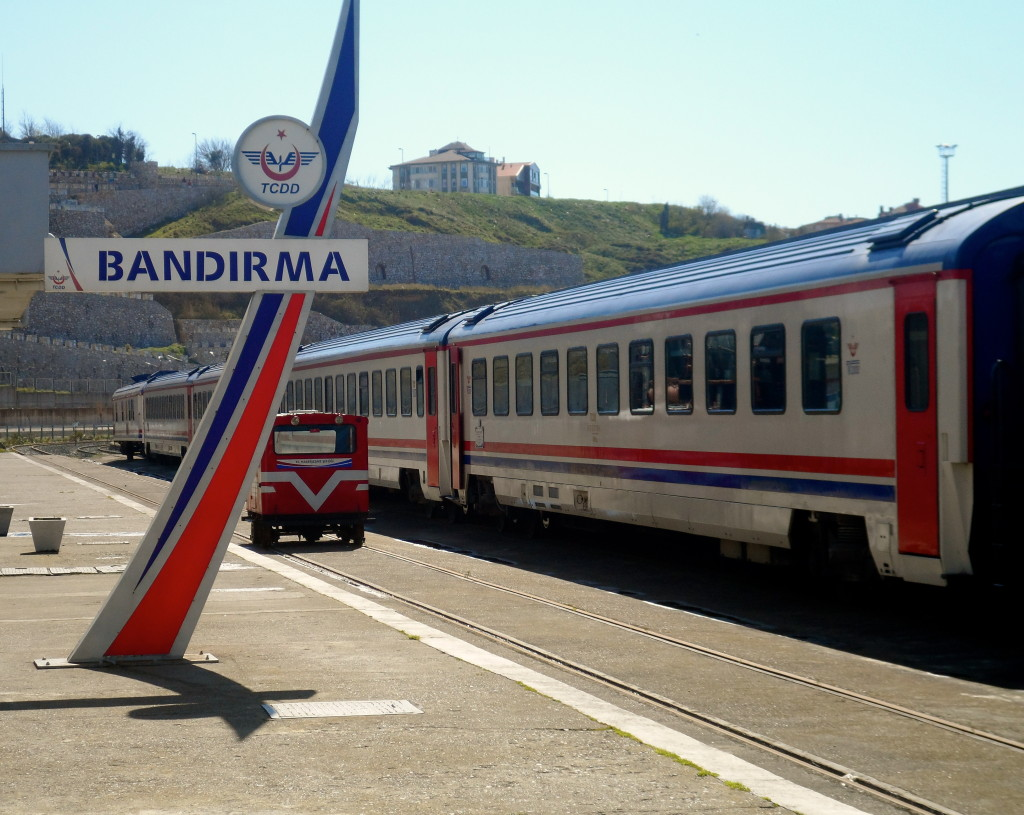 The train from Bandirma to Izmir.