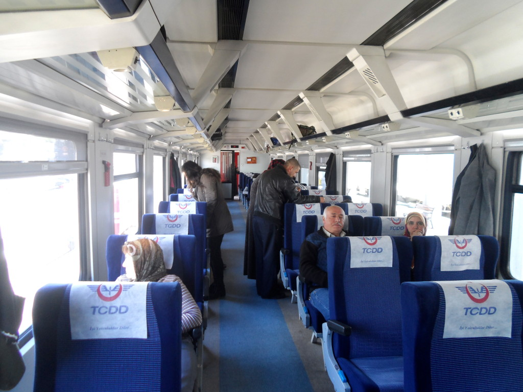 Inside the train between Bandirma and Izmir
