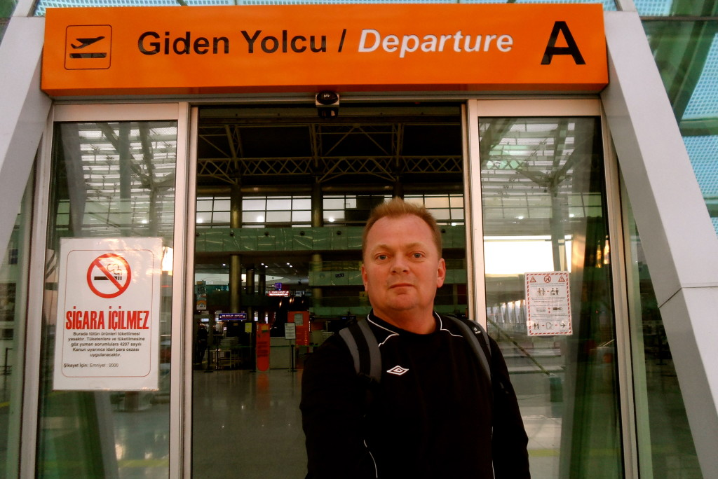 Arriving at Izmir Airport.