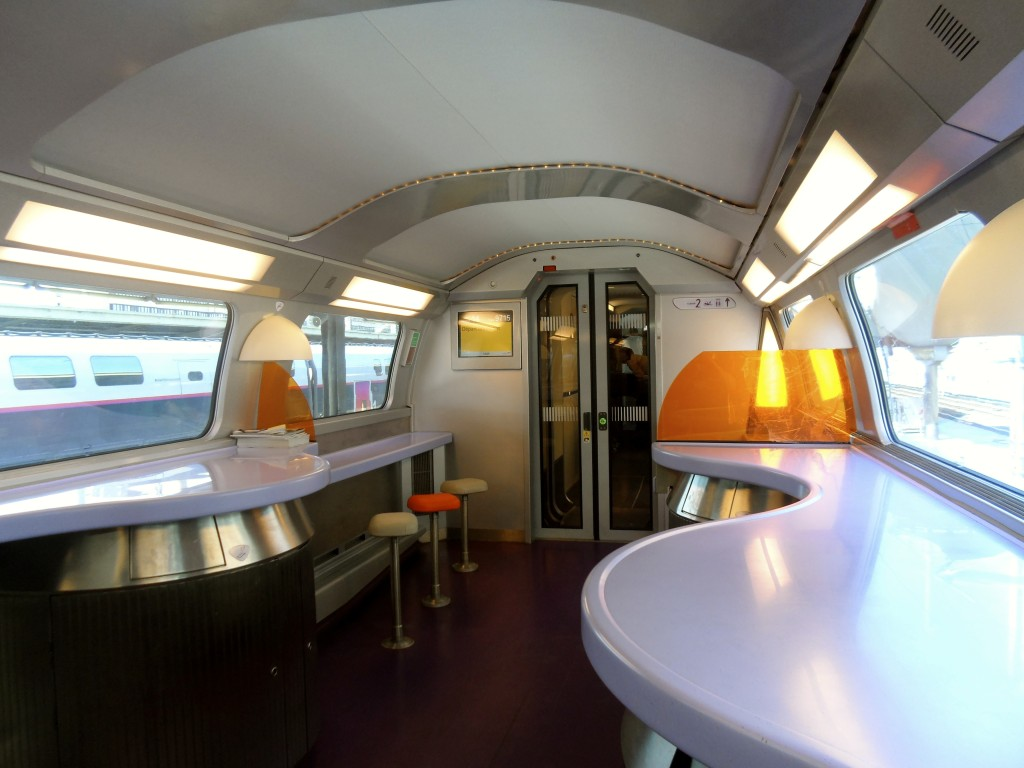 The bar on the TGV train.