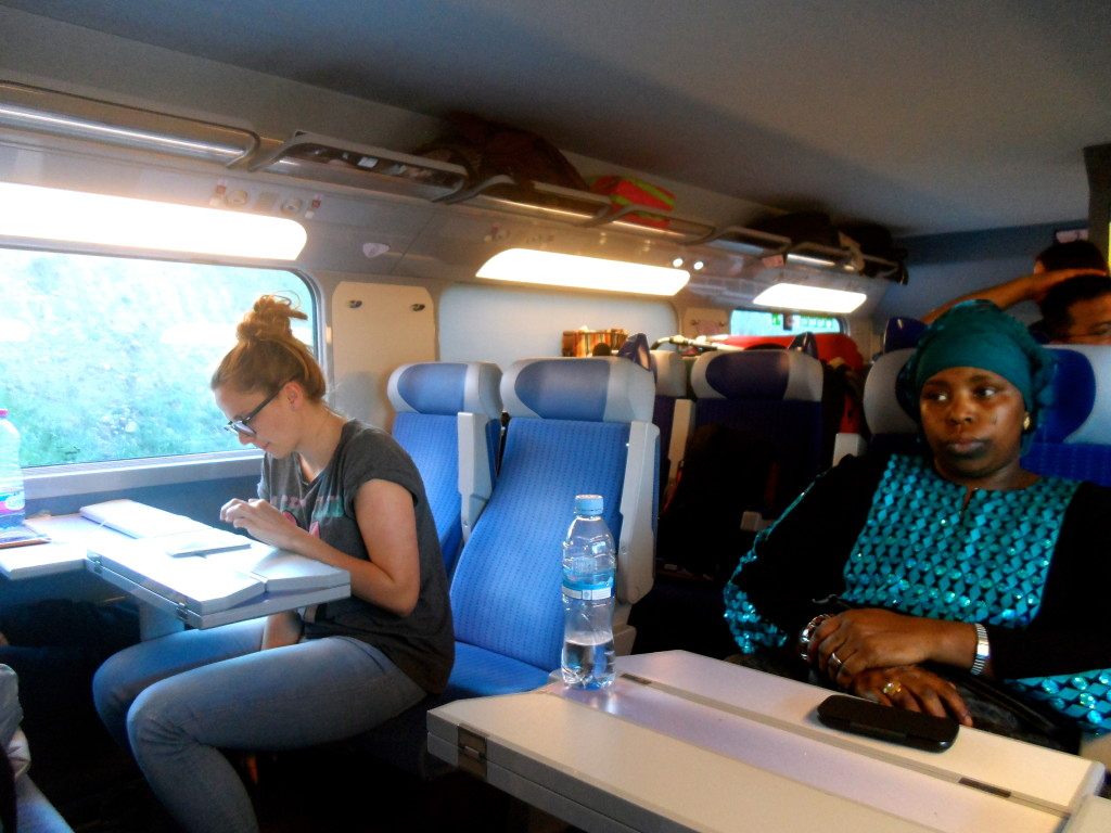 People from all over the world travel with the TGV train.