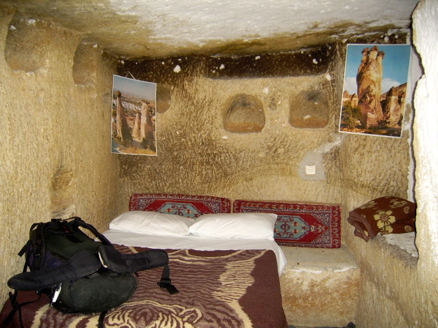 I am quite happy sleeping in a cave for the night.