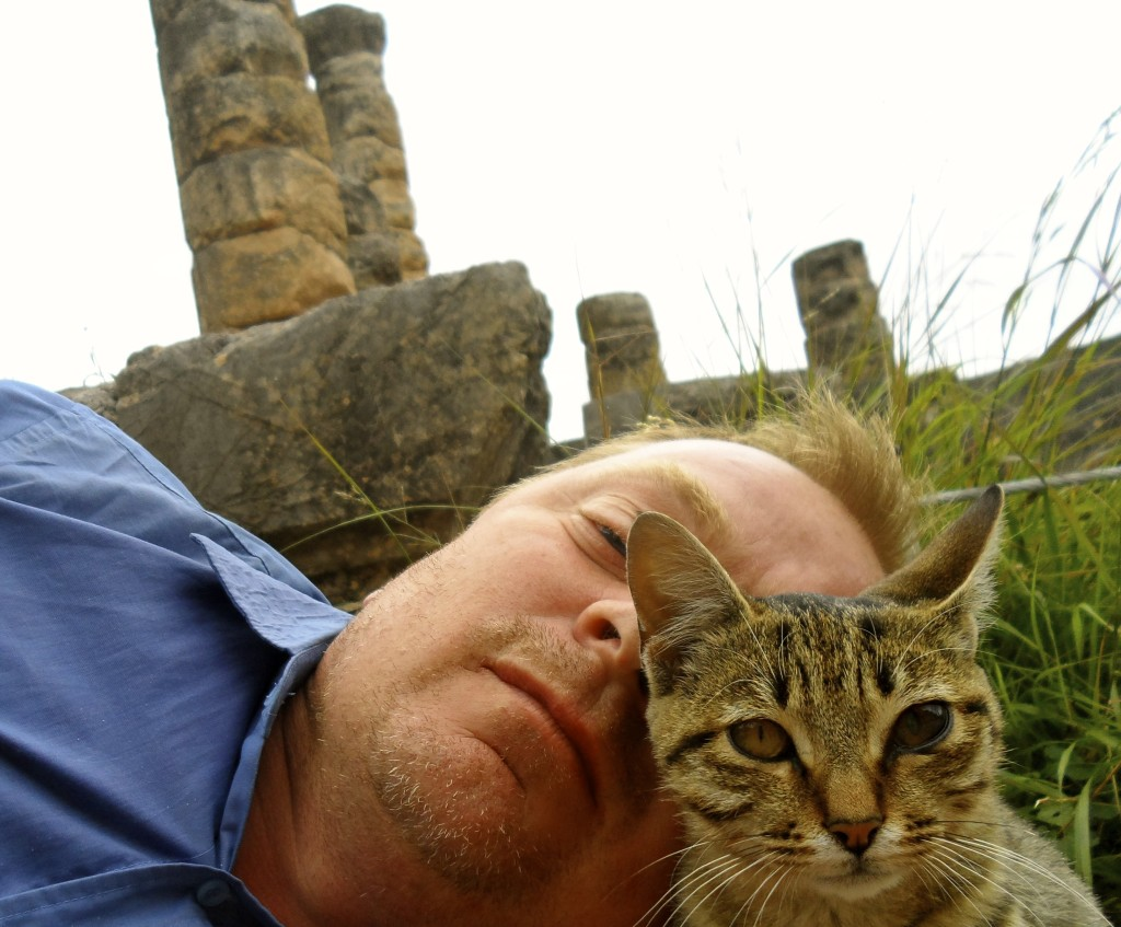 Me and a greek cat.