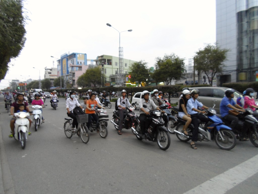 Vietnamese traffic.