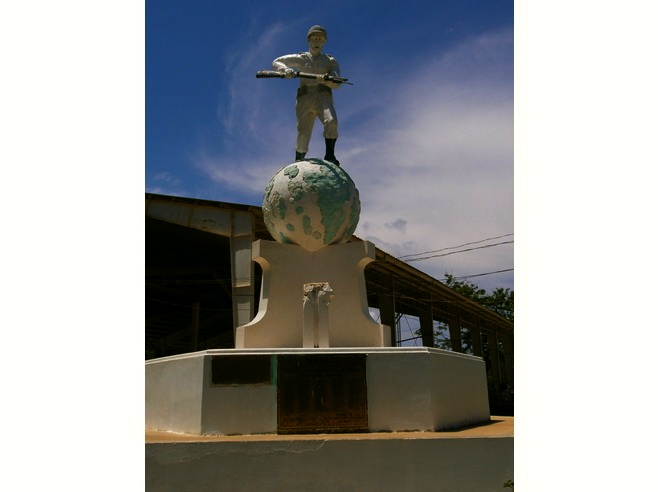 War memorial on Cuyo Island.