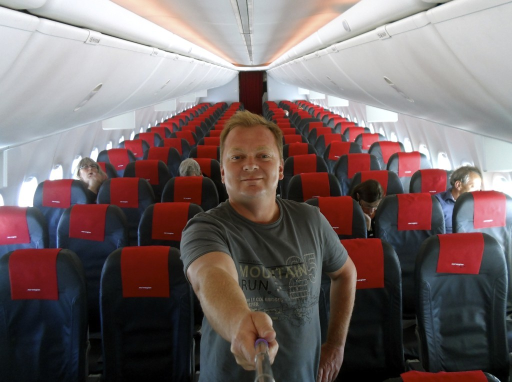 Flying with Norwegian.