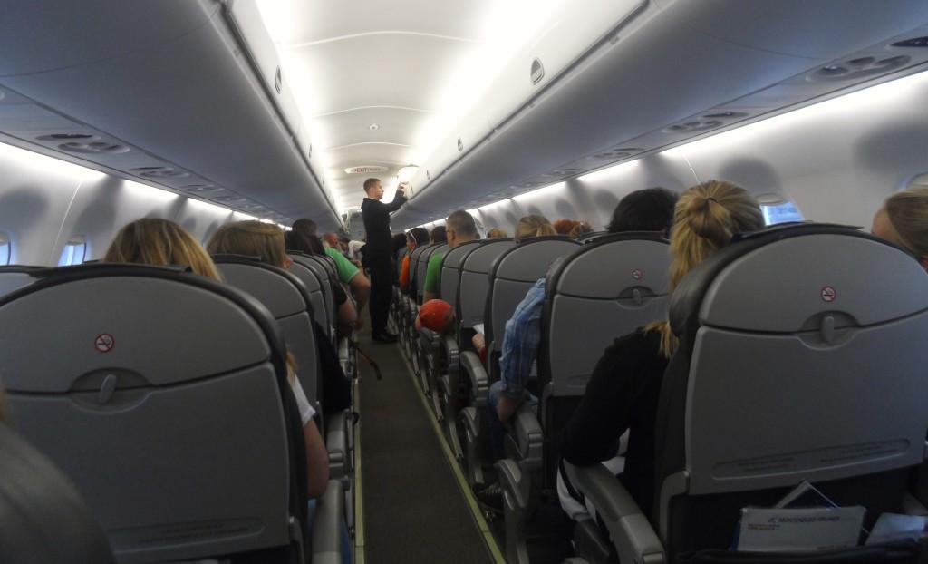 Onboard Montenegro Airlines.