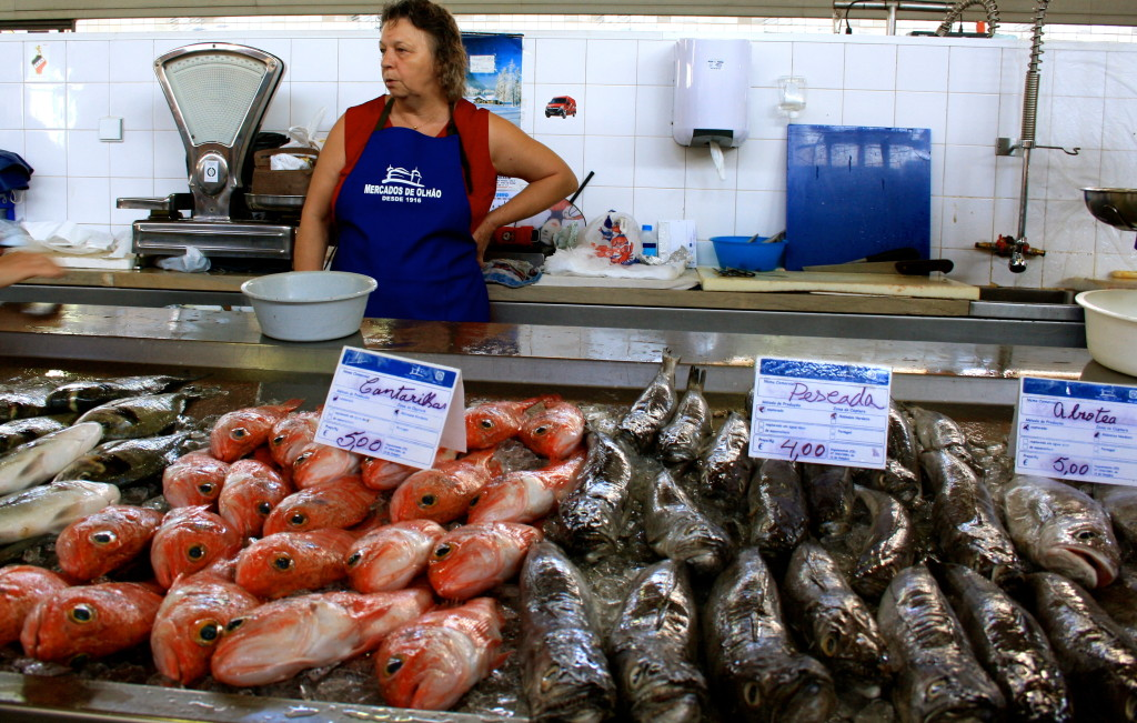 The Fish market in Olhao.