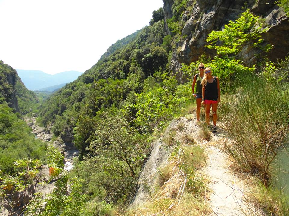 Hiking in Albania.