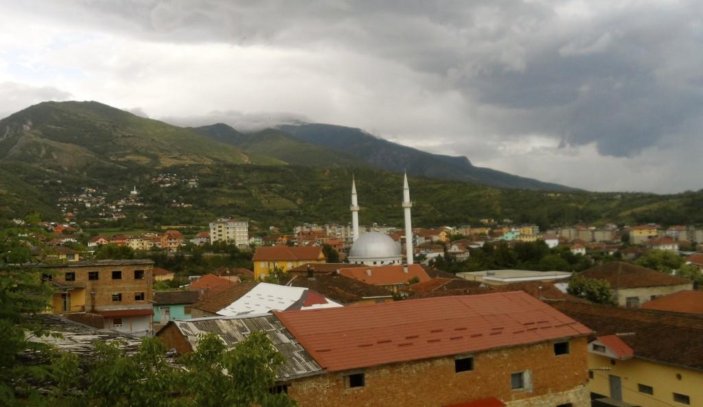 Peshkopi in eastern Albania.