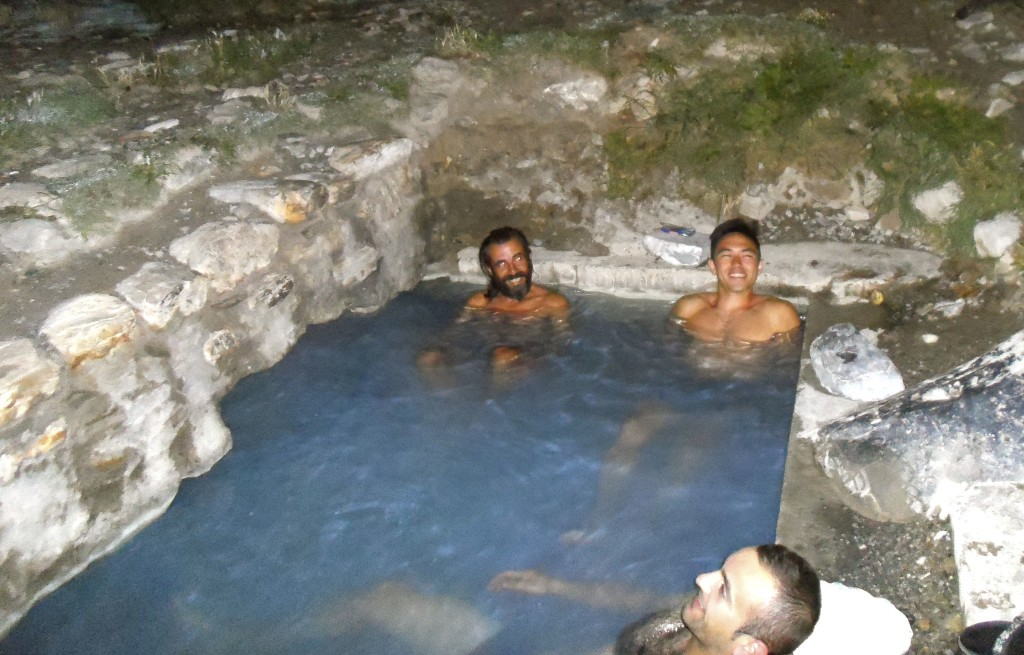 Enjoying the hot springs in peshkopi.